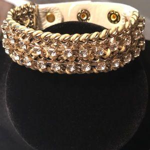 Jewelry - 💕NWOT💕 GOLDTONE & BRAIDED LEATHER BRACELET